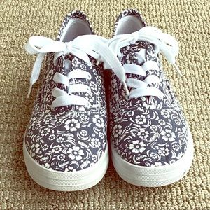 Coral Bay Canvas Floral Sneakers